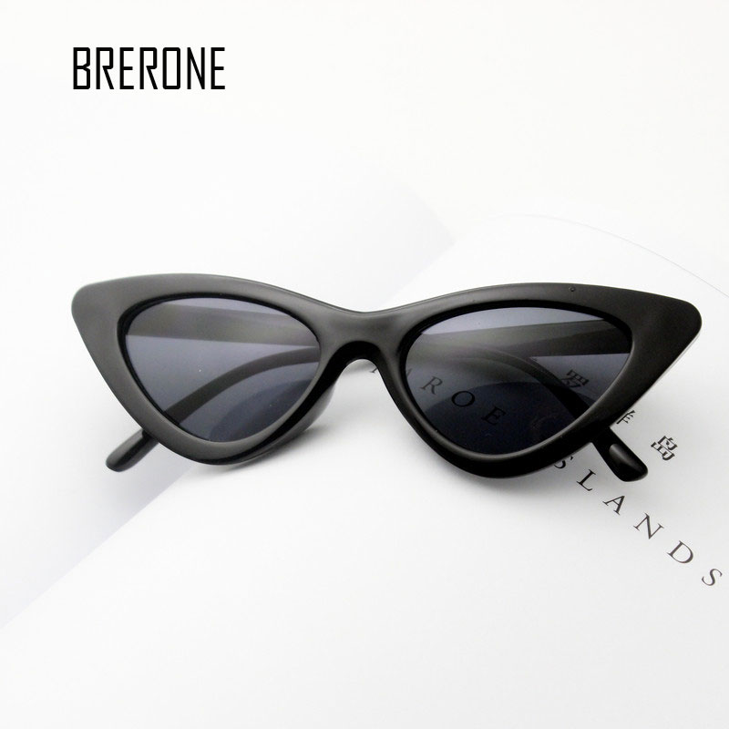 BRERONE <font><b>cute</b></font> <font><b>sexy</b></font> <font><b>retro</b></font> <font><b>cat</b></font> <font><b>eye</b></font> <font><b>sunglasses</b></font> women small black white 2018 triangle vintage cheap sun glasses red female uv400 image