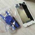 Alta qualidade 4S tampa da bateria para o iphone 4s tampa traseira porta do painel traseiro placa de vidro de substituição de habitação + ferramentas gratuitas