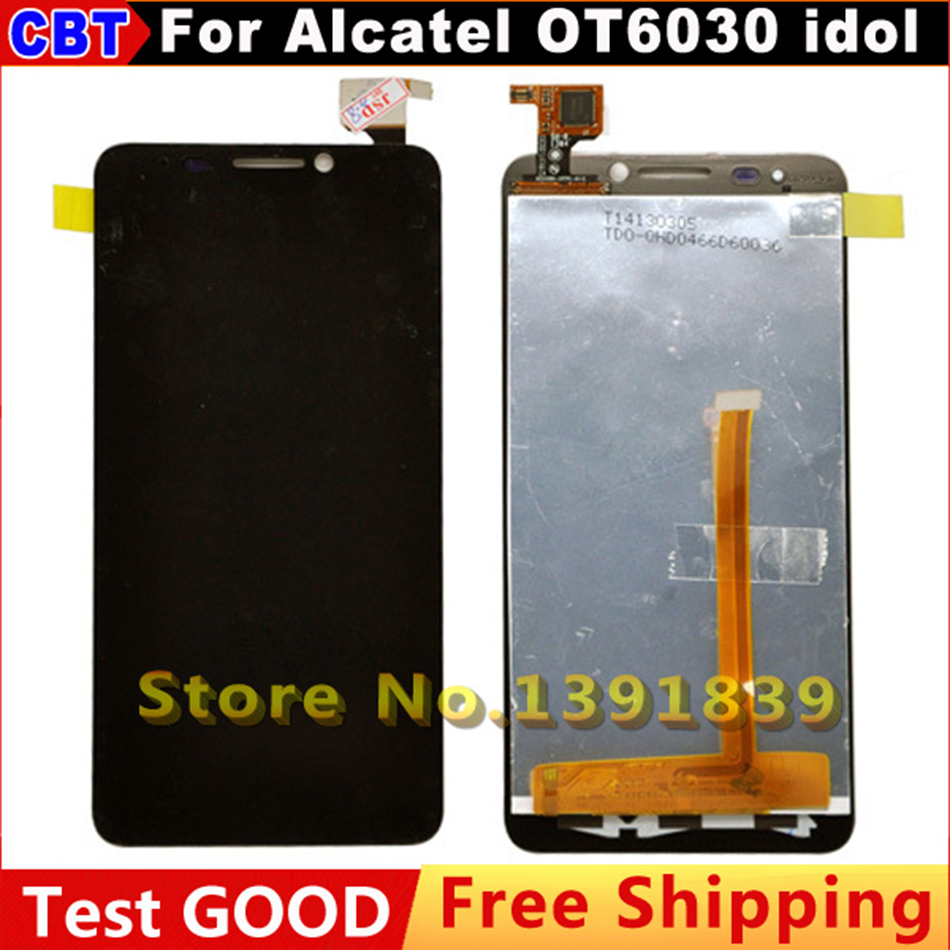 00% QC PASS LCD Display + Touch Screen Digitizer Glass Panel For Alcatel One Touch Idol 6030 OT-6030D OT-6030X OT-6030A