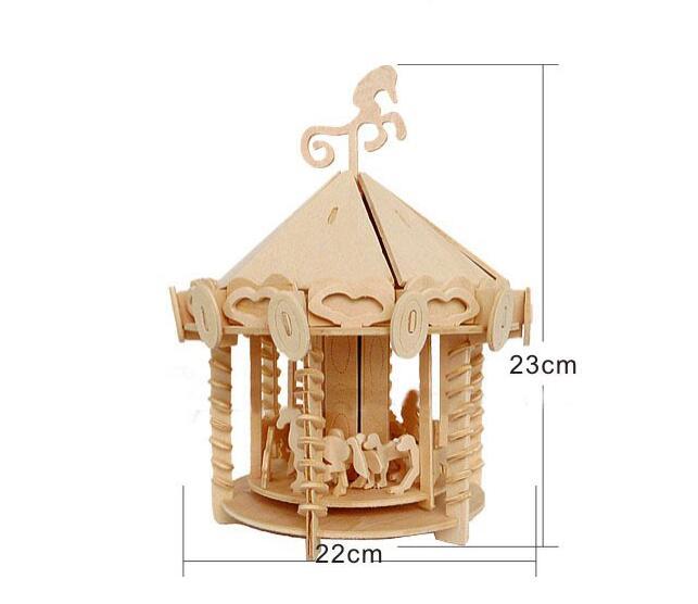 Моделирование Парк развлечений модель 3d трехмерные деревянные головоломки игрушки для детей Diy ручной работы деревянные пазлы