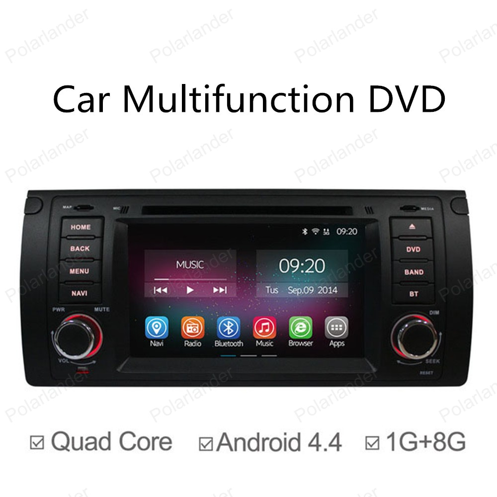 7in Quad Core car DVD Android 4 4 for bmw e39 e53 5 series GPS NAVI