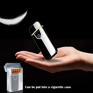 Image 3 - Touch Sensing Double sided USB Rechargeable Lighter Windproof Flameless Electronic Cigar Cigarette Electric Lighters Plasma
