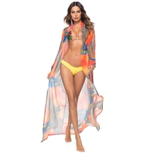 2018 Sexy Print Pareo Beach Dress Leopard Bikini Cover Up Swimwear Women Robe De Plage Beach Cardigan Bathing Suit Cover Ups pareo beach white cover up chiffon bikini swimwear women robe de plage beach cardigan bathing suit swimsuit long blouse dress
