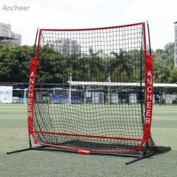 5 x 5ft prática de beisebol net softball prática net com arco quadro greve zona alvo compacto bolsa transporte esportes ao ar livre