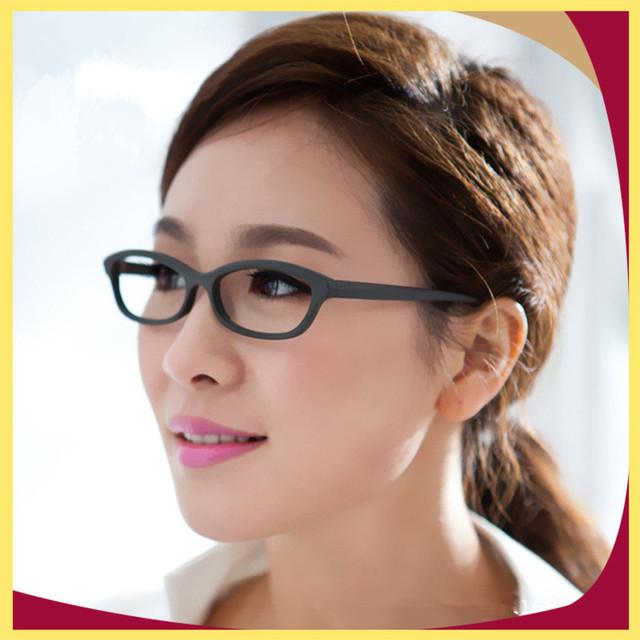 Preto Roxo de Acetato Óptico Óculos Armação de óculos de Alta Qualidade Da Forma Das Mulheres Slim Óculos Moldura