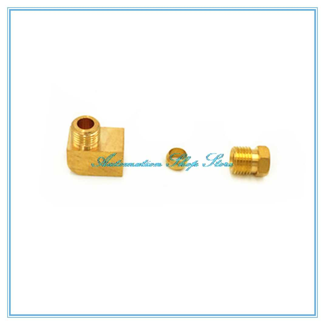 Raccord de tuyau d'huile en laiton de lubrification de Machine-outil 4 6 8mm