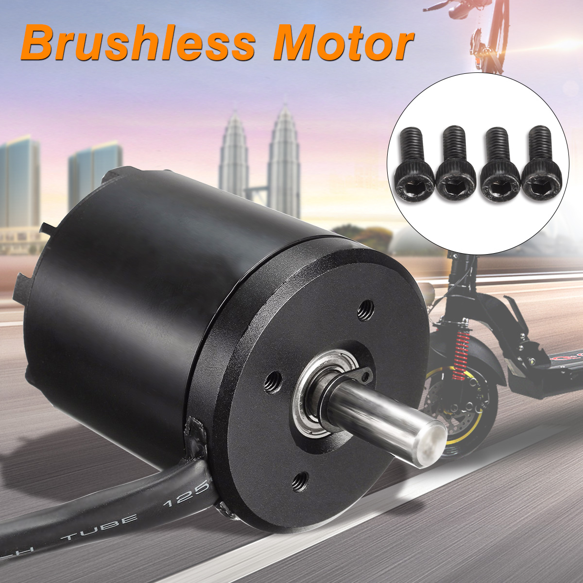 New 2.6KG 3-8S N5065 5065 270KV Brushless Sensored Motor For Electric Skate Scooter Motor Accessories цена