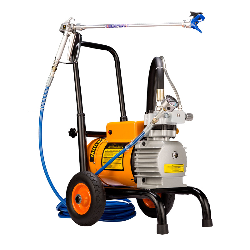 8L min Electric high pressure airless spraying machine 980 two guns Wall Painting Sprayer FOR emulsion varnish oil paint coating in Power Tool Accessories from Tools