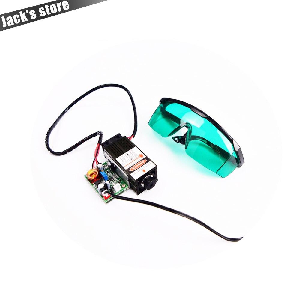 5.5 w 450nm bleu laser module, laser machine de gravure pièces, de découpe laser TTL module 5500 mw laser tube