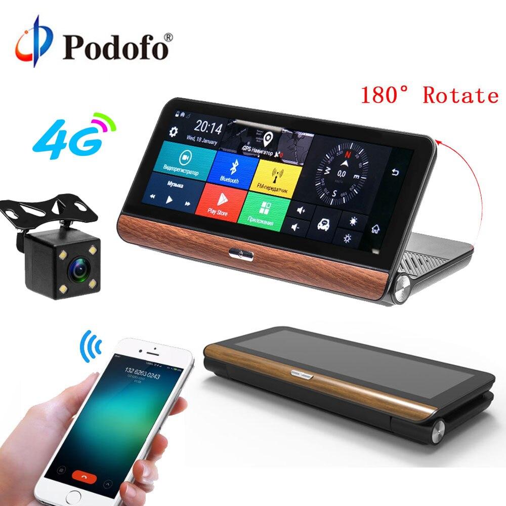 Podofo 4G автомобильный gps навигация Android FHD 1080P 7,84 Сенсорный автомобильный dvr двойной объектив камера двойной объектив видео рекордер Dashcam Регис...