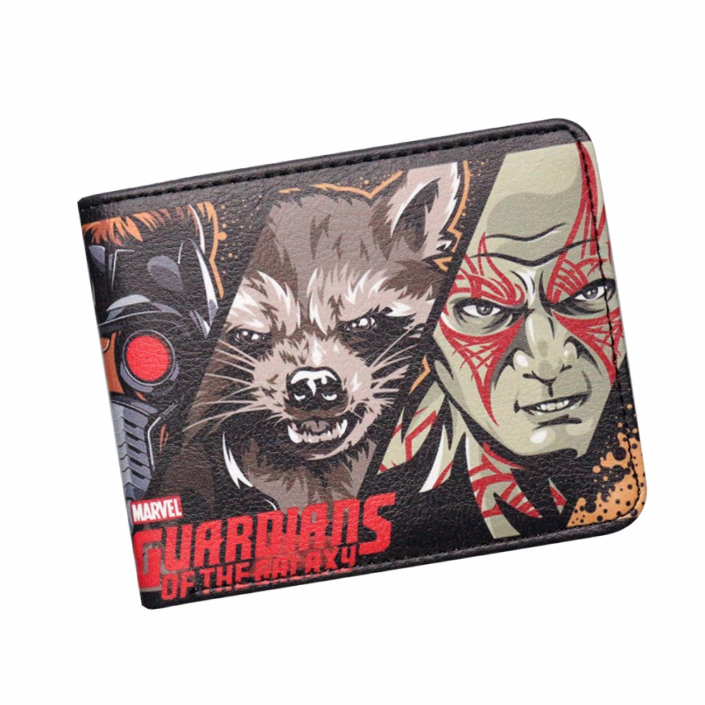 2017 New Movie Guardians of the Galaxy Vol. 2 Mens Anime Wallet Woman Purse Short Slim Leather Zipper Coin Balsos Money Pockets gl new guardians vol 01 ring
