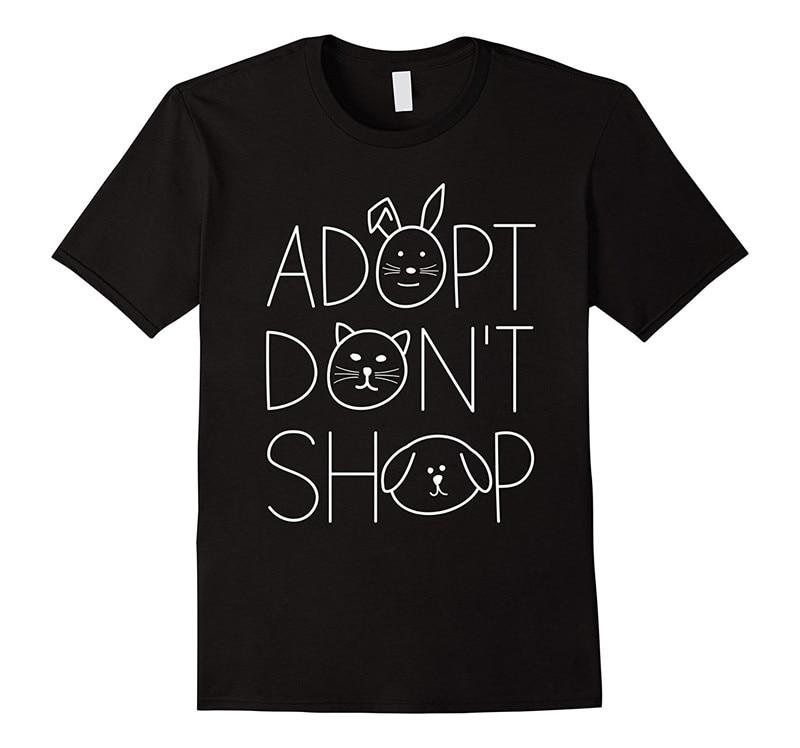 Online T Shirts Design Adopt DonT Shop O-Neck Men Short 100% Cotton Tee