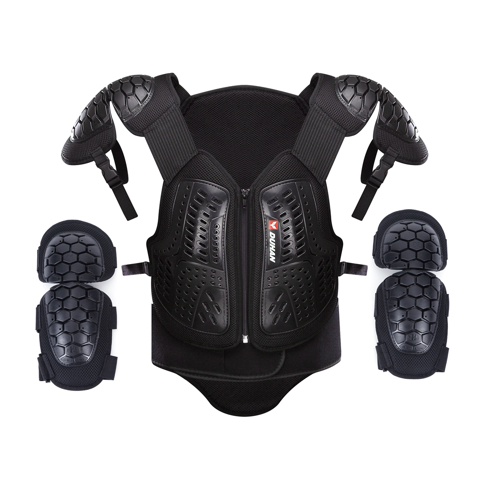 DUHAN Motocross Off-Road Racing Body Armor Motorcycle Anti-Fall Riding Protector Jacket Vest Chest Protective Gear Elbow Pads brand new motorcycle armor protector motocross off road chest body armour protection jacket vest clothing protective gear p14