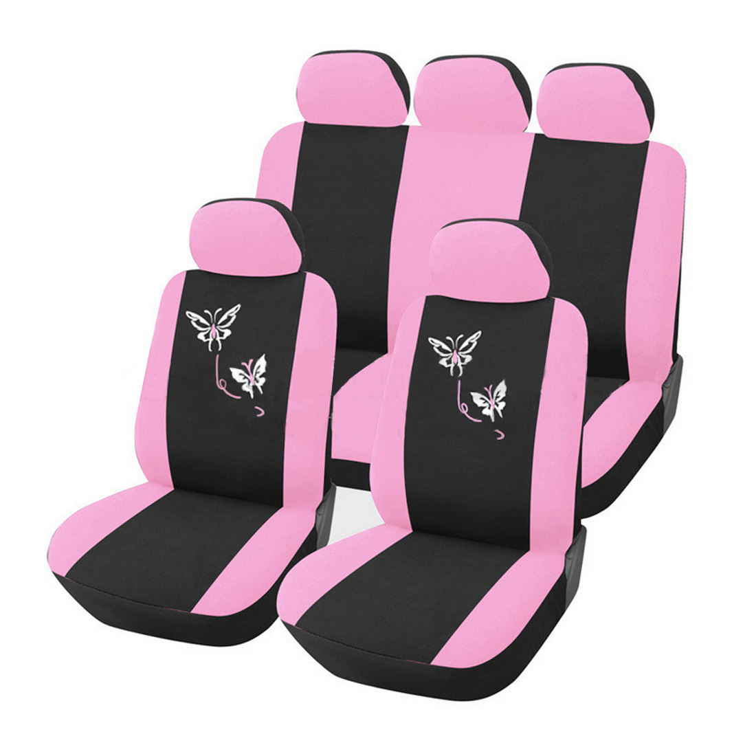 Dewtreetali Car Seat Covers For Women Universal Fit Most Cars Airbag Compatible Pink Flower Embroidery Car-styling DecorationDewtreetali Car Seat Covers For Women Universal Fit Most Cars Airbag Compatible Pink Flower Embroidery Car-styling Decoration