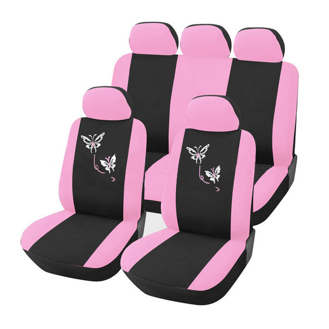 Dewtreetali car seat covers for women universal fit most cars airbag dewtreetali car seat covers for women universal fit most cars airbag compatible pink flower embroidery car mightylinksfo