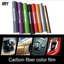 LQY 127 * 30cm  car sticker interior modification decorative center console handle panel gear multi-color optional carbon fiber