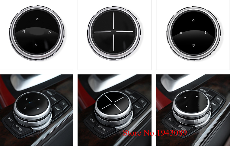 Hot Interior Multimedia Buttons Cover Accessories For BMW 1 2 3 4 5 7 Series X1 X3 X4 X5 X6 F30 F10 F15 F16 F34 F07 F01 E70 E71