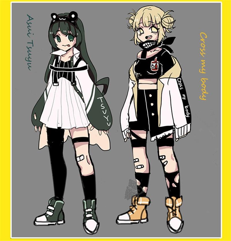 My Hero Academia Himiko Toga Asui Tsuyu Jirou Kyouka Cosplay Costume Little Hero Fashion Clothing Halloween Costumes Daily Suits