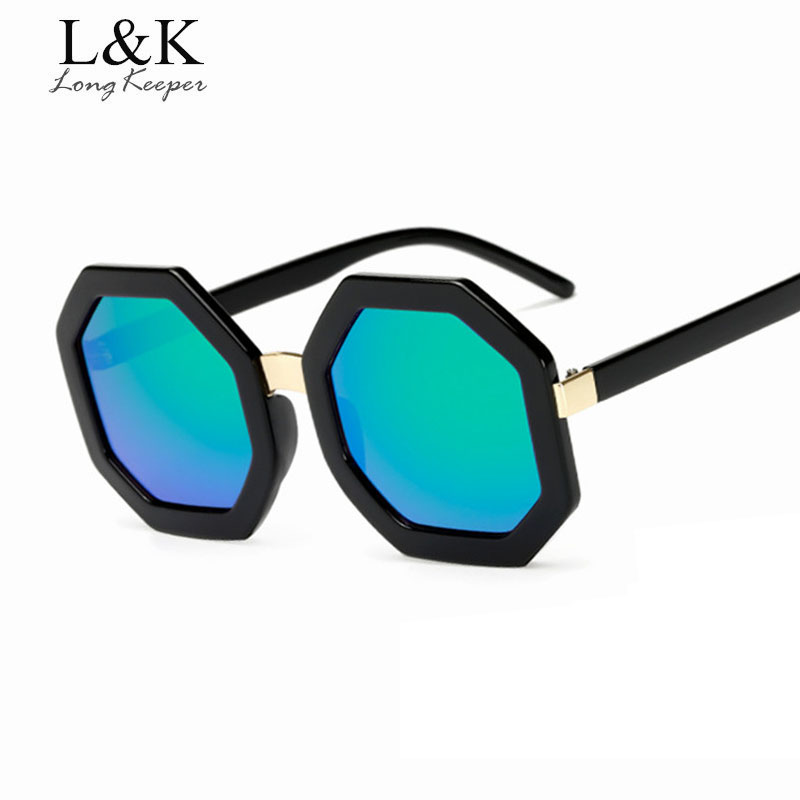 Long Keeper 2017 New Fashion Octagon Women sunglasses Most Popular Brand Design Oversize Glasses For Male Female Eyewear KP18005