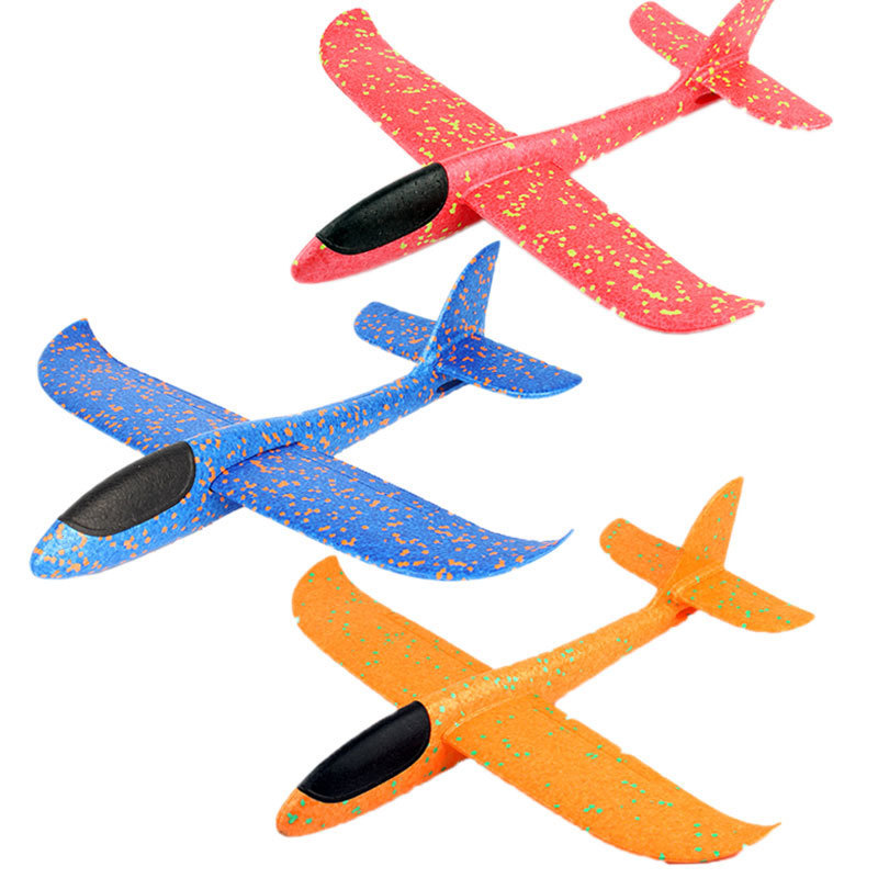 1pc 48cm Hand Launch Throwing Glider Aircraft Toys Boys Girls Funny Foam Airplane Toy Children Plane Model Outdoor Fun Toys #CS image