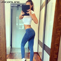 JYConline Fashion Skinny Jeans Woman Autumn Pencil Jeans For Women Slim Blue Jeans Low Waist Denim Pants Women Jeans Trousers