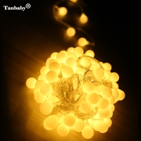 Tanbaby 10M 80 LEDs AC220V/AC110V Christmas LED String Lights waterproof IP65 Outdoor Holiday Wedding Party Decotation lights
