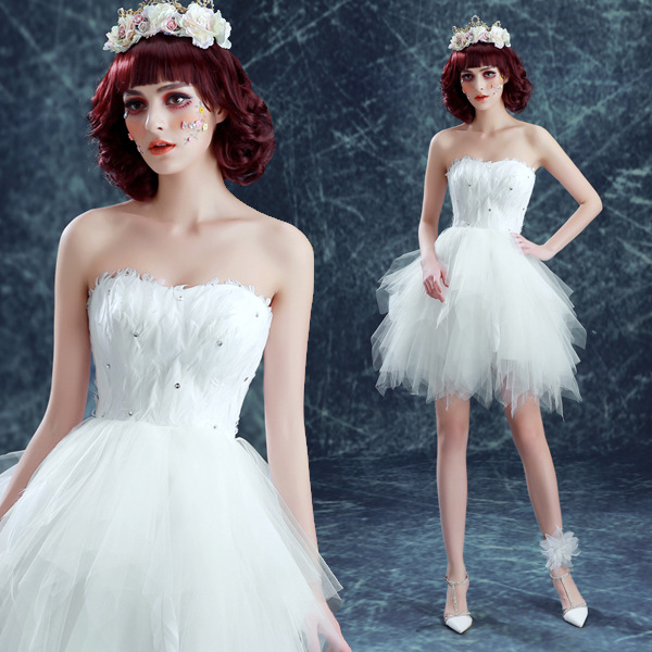 Popular White Feather Dresses-Buy Cheap White Feather Dresses lots ...