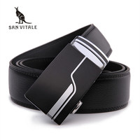 Men S Fashion Accessories Brand Belts Hight Quanlity Geniune Leather Automatic Buckle Black Belt For Male