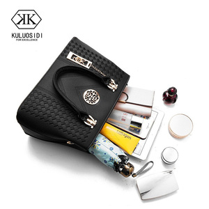 Image 5 - Embroidery Messenger Bags Women Leather Handbags  Bags for Women 2019 Sac a Main Ladies Hand Bag