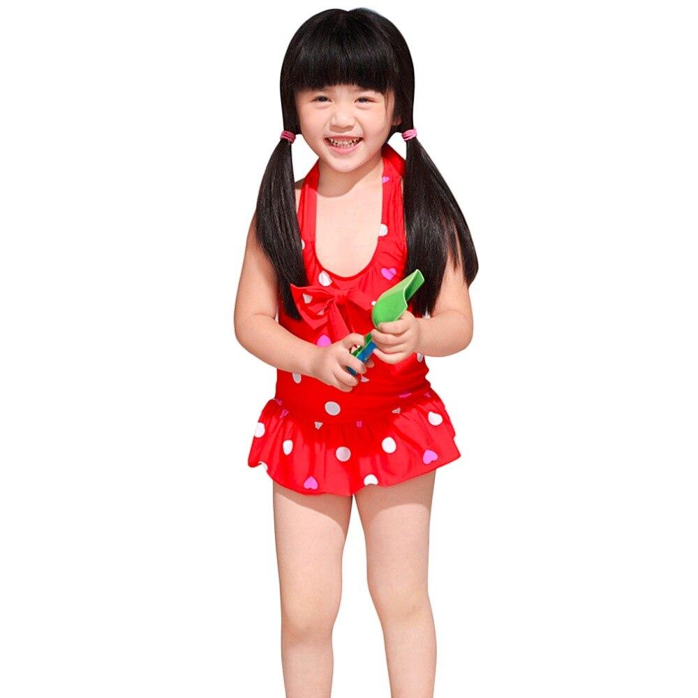 HWYHX 2016 New 3PCS Baby Girls Kid Swimwear Bikini Skirts Tankini Retro Dots Swimsuits Promotion hwyhx 2016 new split type child girl floral pattern lovely swimsuits kid swimwear skirts best price