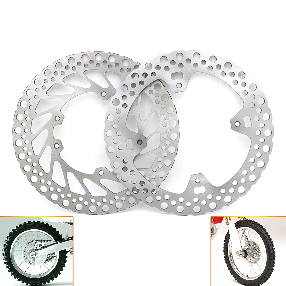 Motorcycle Front Rear Brake Disc Rotor for HONDA CR125E CR125R CR250E CR250R 2002-2008 <font><b>CRF</b></font> 250R 250X 450R <font><b>450X</b></font> 2004-2012 D25 image