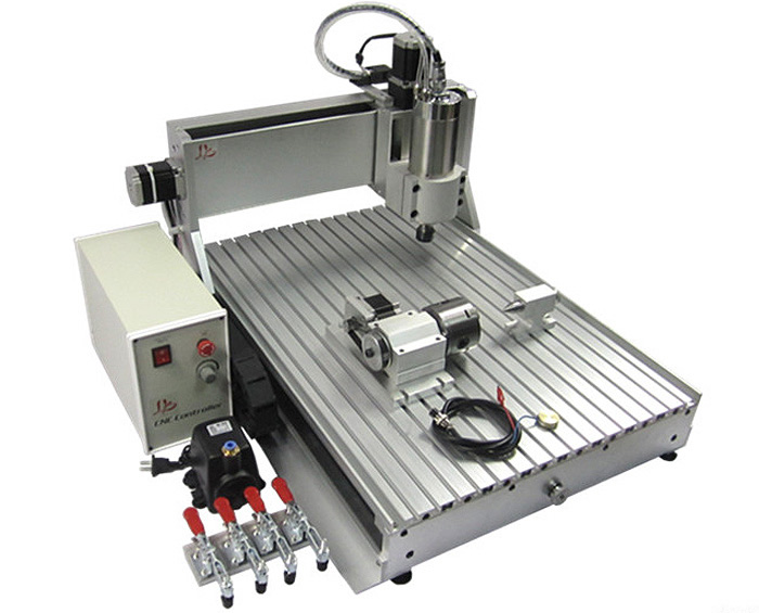 Newest 3D CNC Router 6090 with 1.5KW water coolde spindle, 4 axis metal carving drilling milling machine  6090 cnc carving machine cheap cnc router desktop cnc milling machine
