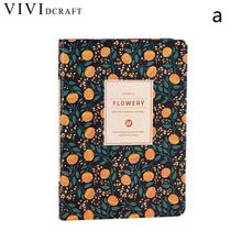 Vividcraft Korean Stationery School Supplies A5/A6 Cute PU Leather Floral Flower Schedule Book Diary Weekly Planner Notebook