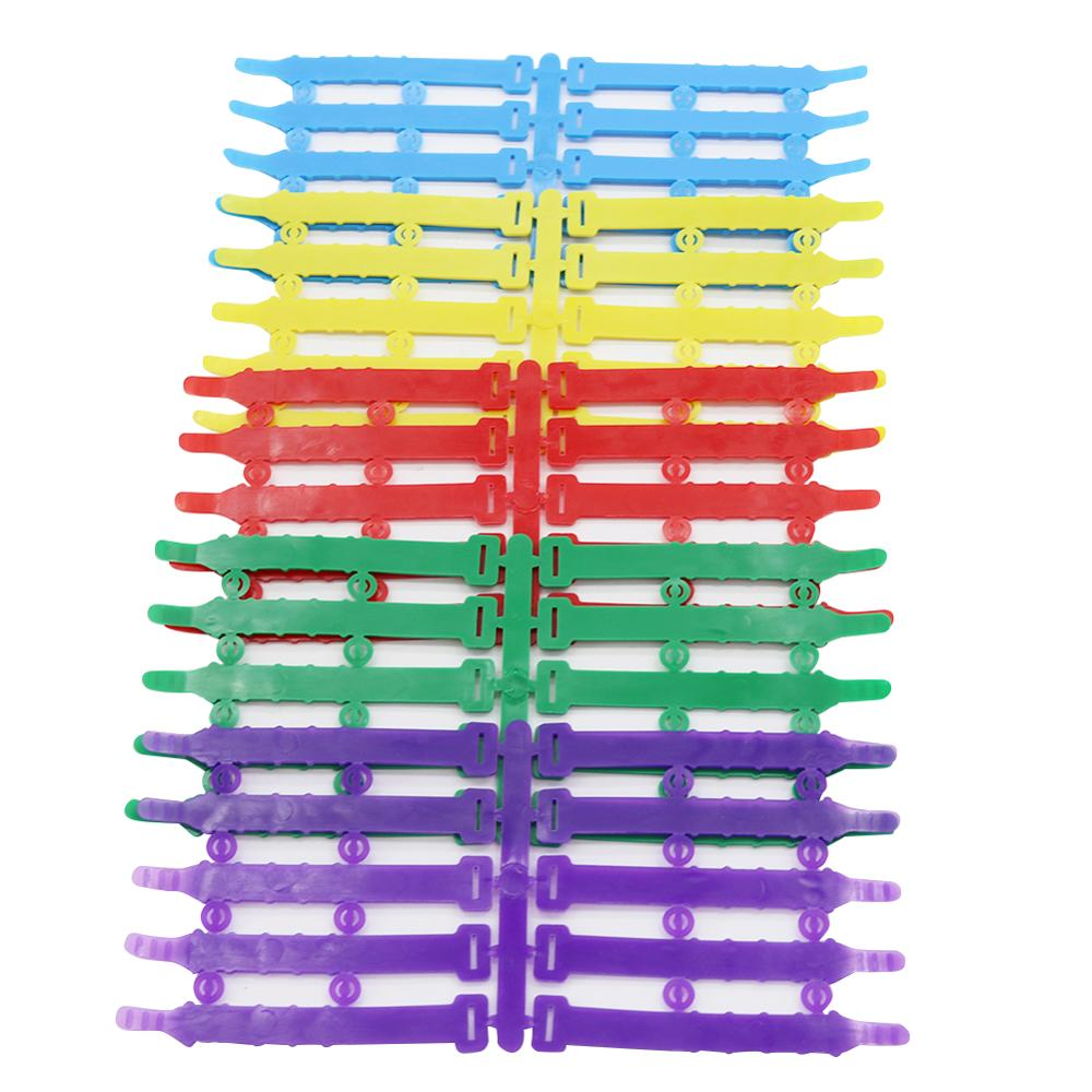 Adjustable 8-23 mm Chicken Foot Ring Chicken coop Poultry Identification rings Feeding supplies 5 Colors ring 50 Pcs