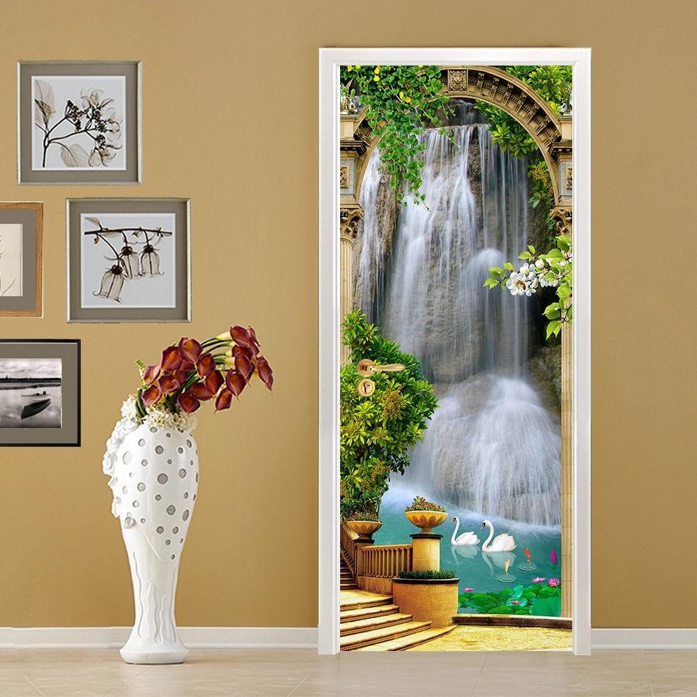Free Shipping Home Decorators: Free Shipping HOT Garden Waterfall Door Wall Stickers DIY
