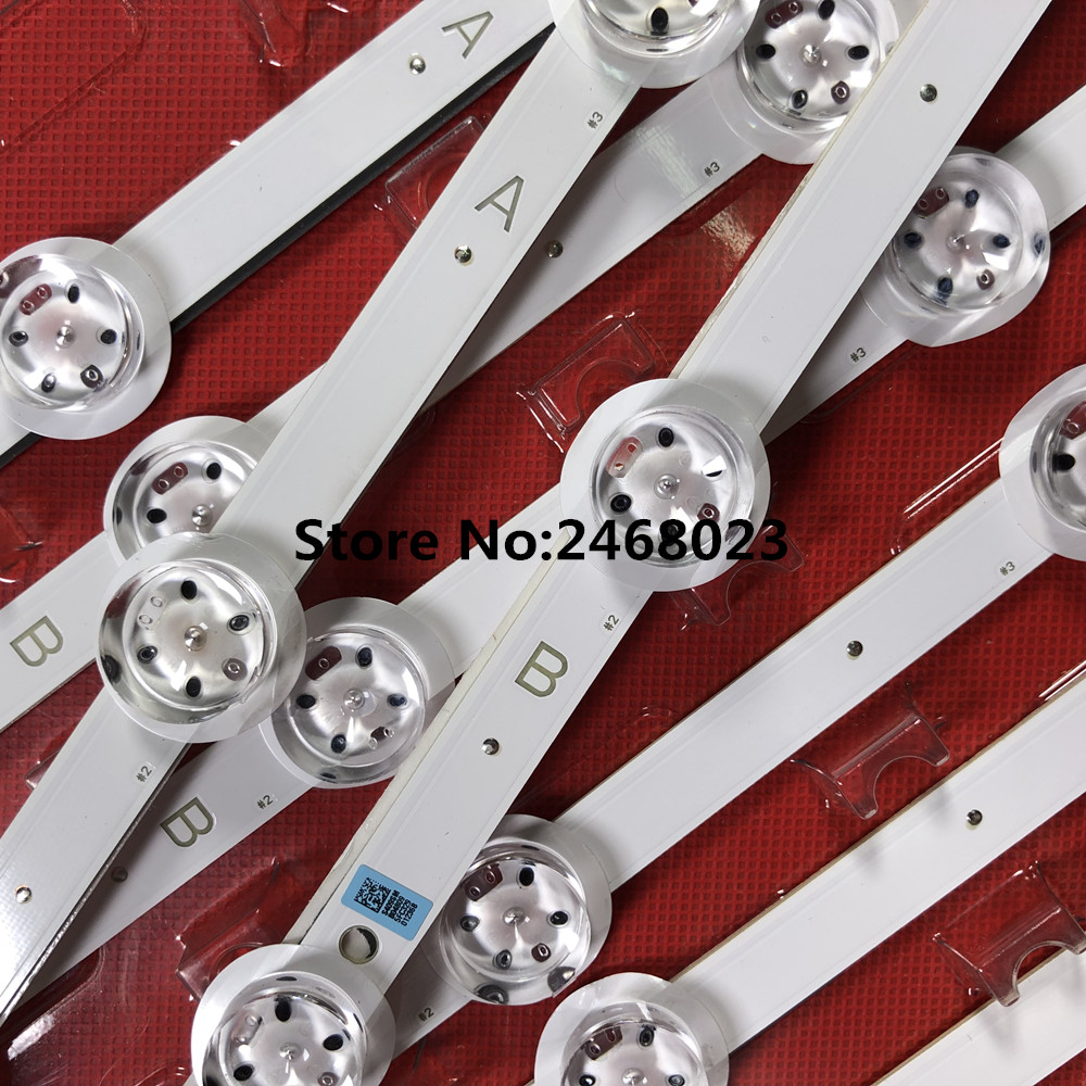 one lot 13pieces for LED Backlight strip SVS550AF3 LJ07 01236A LJ07 01256B For Sam sung 55inch