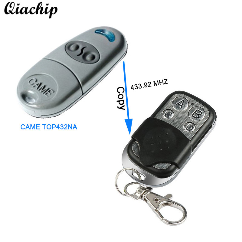 QIACHIP 433MHZ 4CH Copy CAME TOP432NA TOP432EV For Garage Door Gate Remote Control Switch Duplicator RF 433 mhz Transmitter DIY 433mhz universal copy came top432na duplicator cloning 433 92mhz wireless remote control garage door gate fob remote transmitter