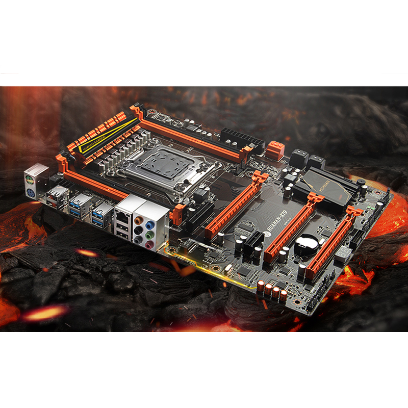 Best seller HUANAN deluxe X79 LGA2011 gaming motherboard set Xeon E5 2690 C2 with CPU cooler RAM 32G(2*16G) DDR3 1333MHz RECC