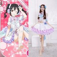 New Arrival Japanese Anime Love Live Nico Yazawa Cosplay Halloween Costumes For Woman Angel Wing Lolita Dresses QZ011