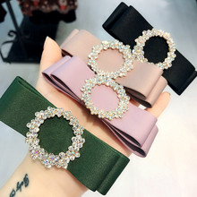 Korea Handmade Flower Crystal Hair Accessories  For Girls Pearl Diamond Bows Rim Hairpin Clips Barrette