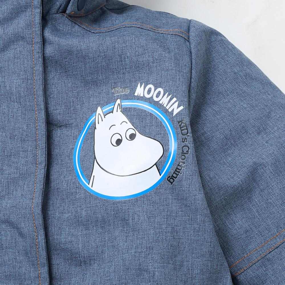 Image 3 - Moomin muumi gray winter overall boys winter jumpsuit waterproof 140cm warm boys winter overall kid  30 degree cartoon overall-in Overalls from Mother & Kids