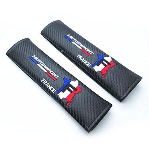 2 unids Francia Motorsport Carbon Fiber Car Styling Accesorios Hombros Del Cinturón de seguridad Pad Cubierta Del Carro