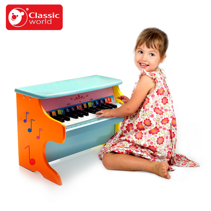 Classic World Child Piano Baby 8-Note Wooden Musical Toys for kid Wisdom Juguetes Music Instrument girl boy Birthday gift aiboully full range peppaed pig toys pvc action figur toy juguetes baby kid birthday gift brinque