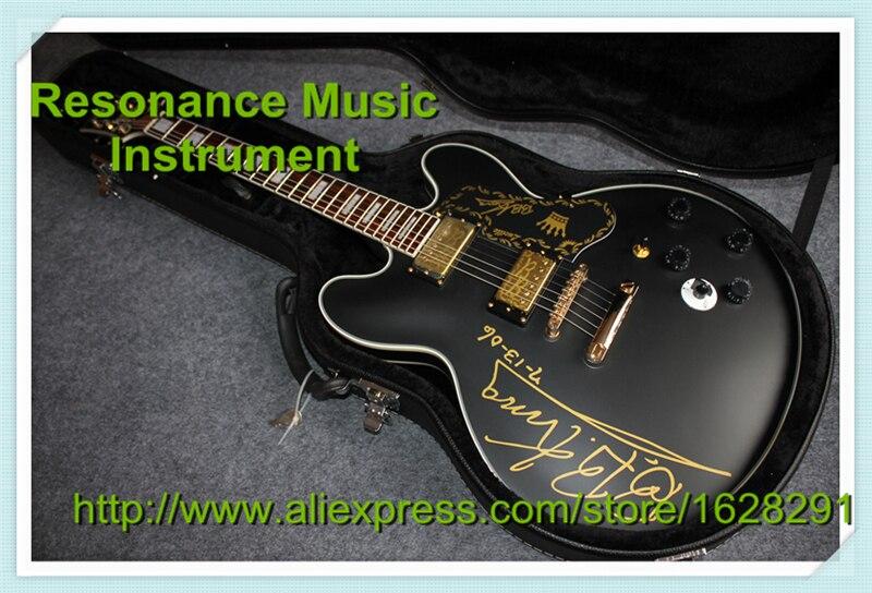 New Arrival Custom Shop ES335 Flat Paint/Matt Finish Jazz Electric Guitar B.B.King Signature With Hardcase epiphone ltd matt heafy signature les paul custom ebony