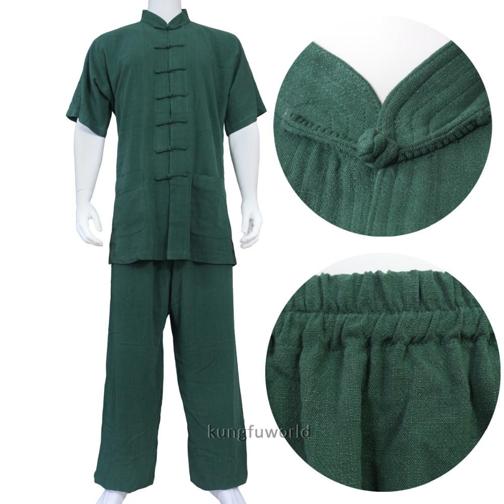 Custom Make Heavyweight Cotton Martial Arts Tai Chi Uniform Changquan Kung Fu Wushu Wing Chun Suit