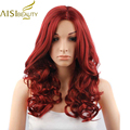 Long Wavy Red Queen Wig Natural Synthetic Wigs For Black White Women Cheap Wigs For Women Lolita Ladies Wigs Cosplay Burgudy