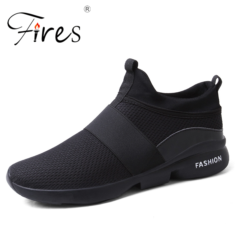 Fires Walking Shoes Men Sports Shoes Summer Outdoor Sneakers Trend Breathable Running Shoes Man Sport Black Zapatillas Hombra
