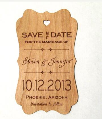 personalized name date save the date rustic wedding wooden gift favor tags labels invitations party bridal shower accessory in cards invitations from home