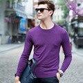 2017 Hombres Suéter de Marca Invierno de Los Hombres de Moda Suéter Suéter de Punto Jersey de Lana de Los Hombres Mejor Calidad Jersey Informal