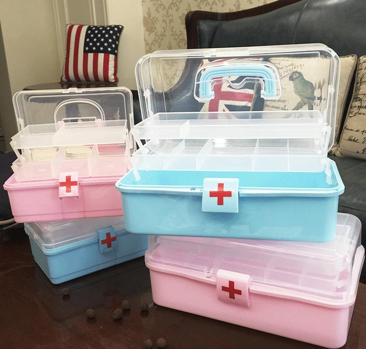 BBLJ1---Emergency medical drug storage box, medicine box, home use multi-layer size tool ...